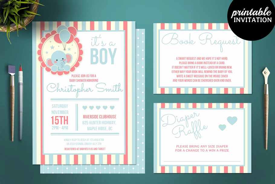 Elephant Baby Shower Invitation Templates Beautiful 12 Printable Elephant Baby Shower Invitation Templates