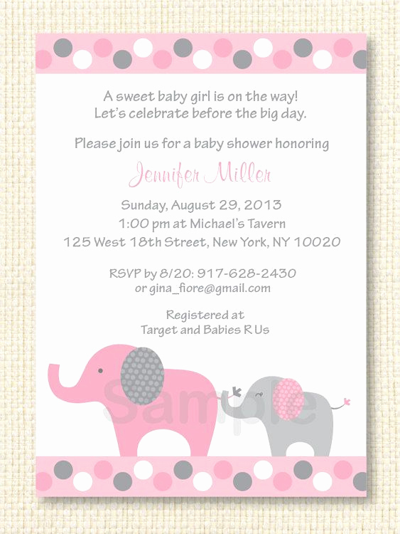 Elephant Baby Shower Invitation Templates Beautiful 71 Best Elephant Baby Shower Ideas Images On Pinterest