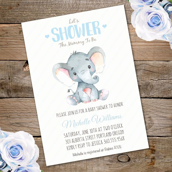 Elephant Baby Shower Invitation Templates Elegant Elephant Baby Shower Invitation Template – Edit with Adobe