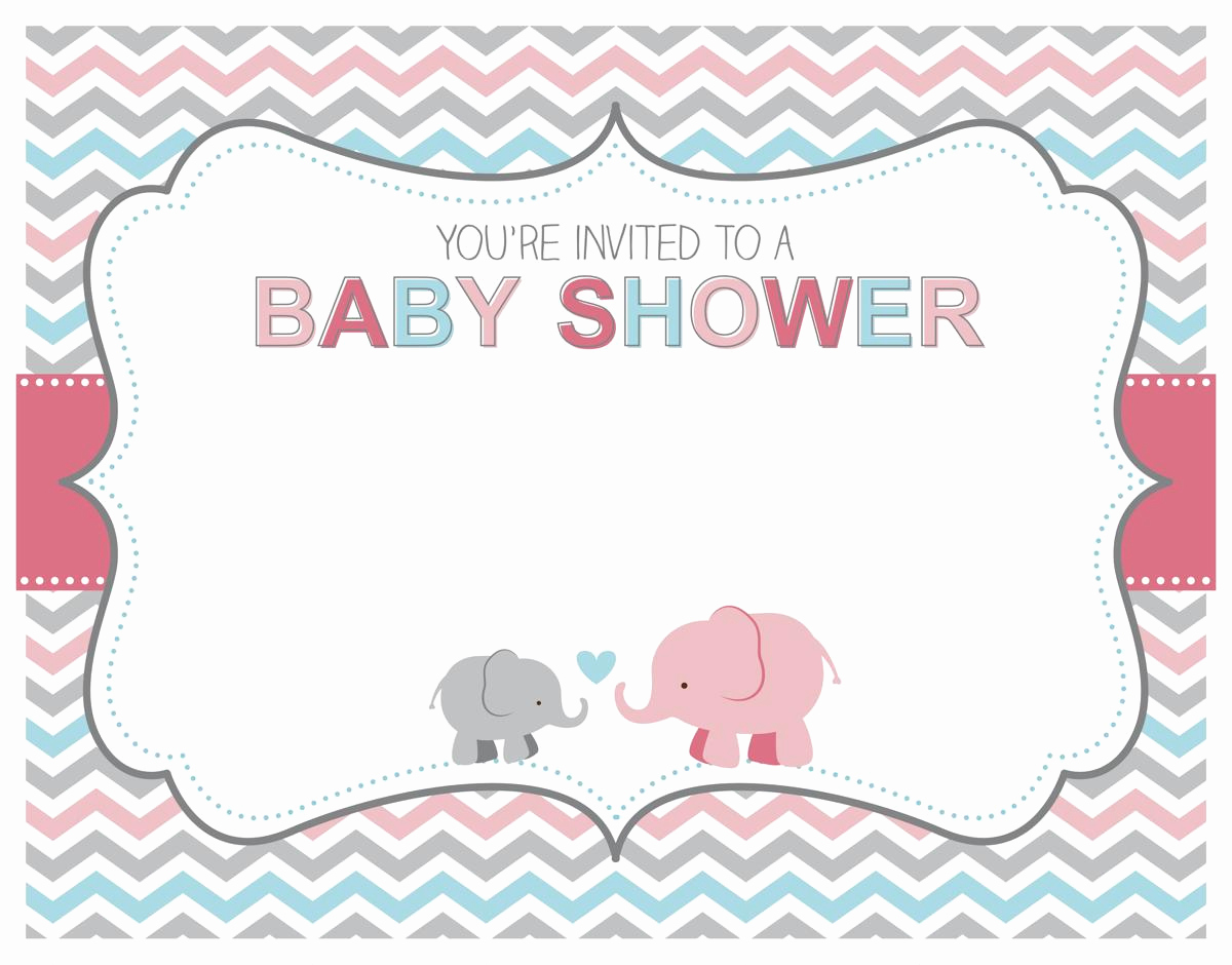 Elephant Baby Shower Invitation Templates Fresh Free Printable Baby Sprinkle Invitations