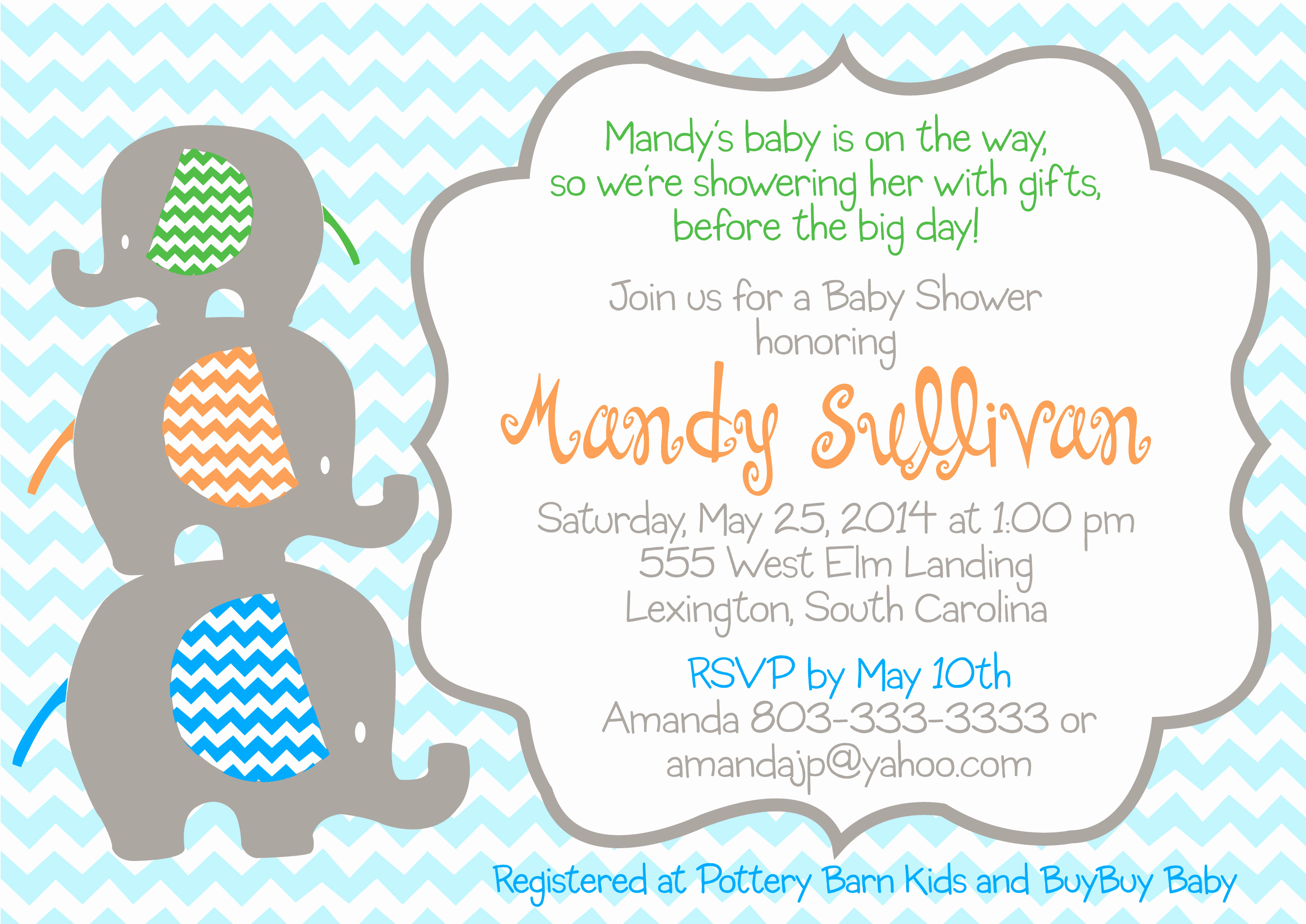 Elephant Baby Shower Invitation Templates Lovely Baby Shower Stackable Elephant Invitation Pure Design