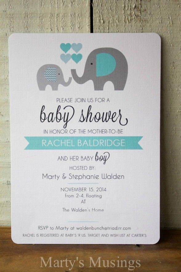 Elephant Baby Shower Invitation Templates Unique Best 25 Baby Shower Invitations Ideas On Pinterest