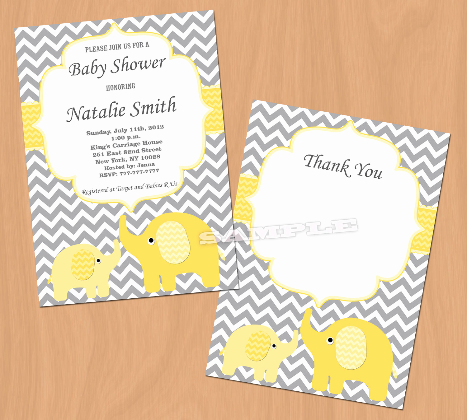 Elephant Invitation Baby Shower Awesome Baby Shower Invitation Yellow Elephant Baby Shower Invitation