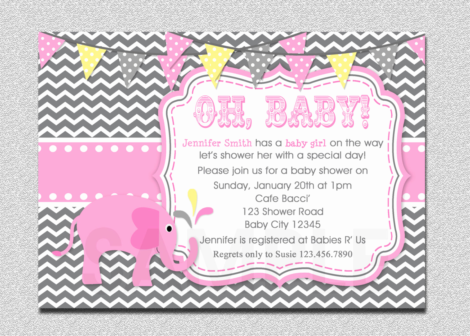Elephant Invitation Baby Shower Elegant Elephant Baby Shower Invitation Elephant Shower Invitation