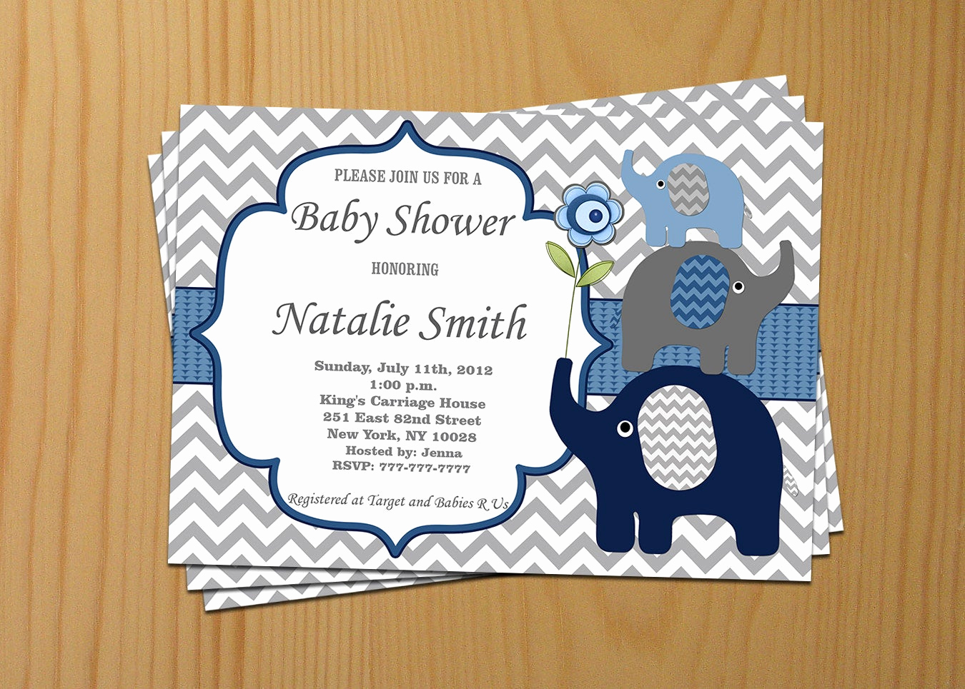 Elephant Invitation Baby Shower Fresh Elephant Baby Shower Invitation Boy Baby Shower Invitations