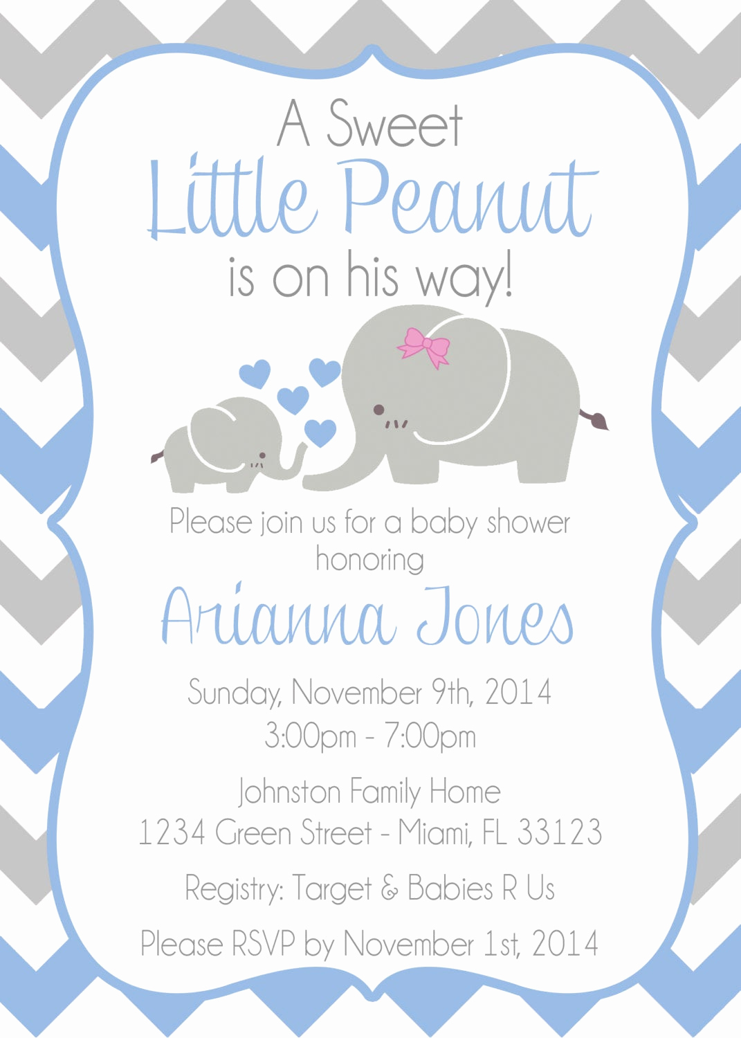 Elephant Invitation Baby Shower Inspirational Baby Elephant themed Baby Shower Invitation Baby Shower