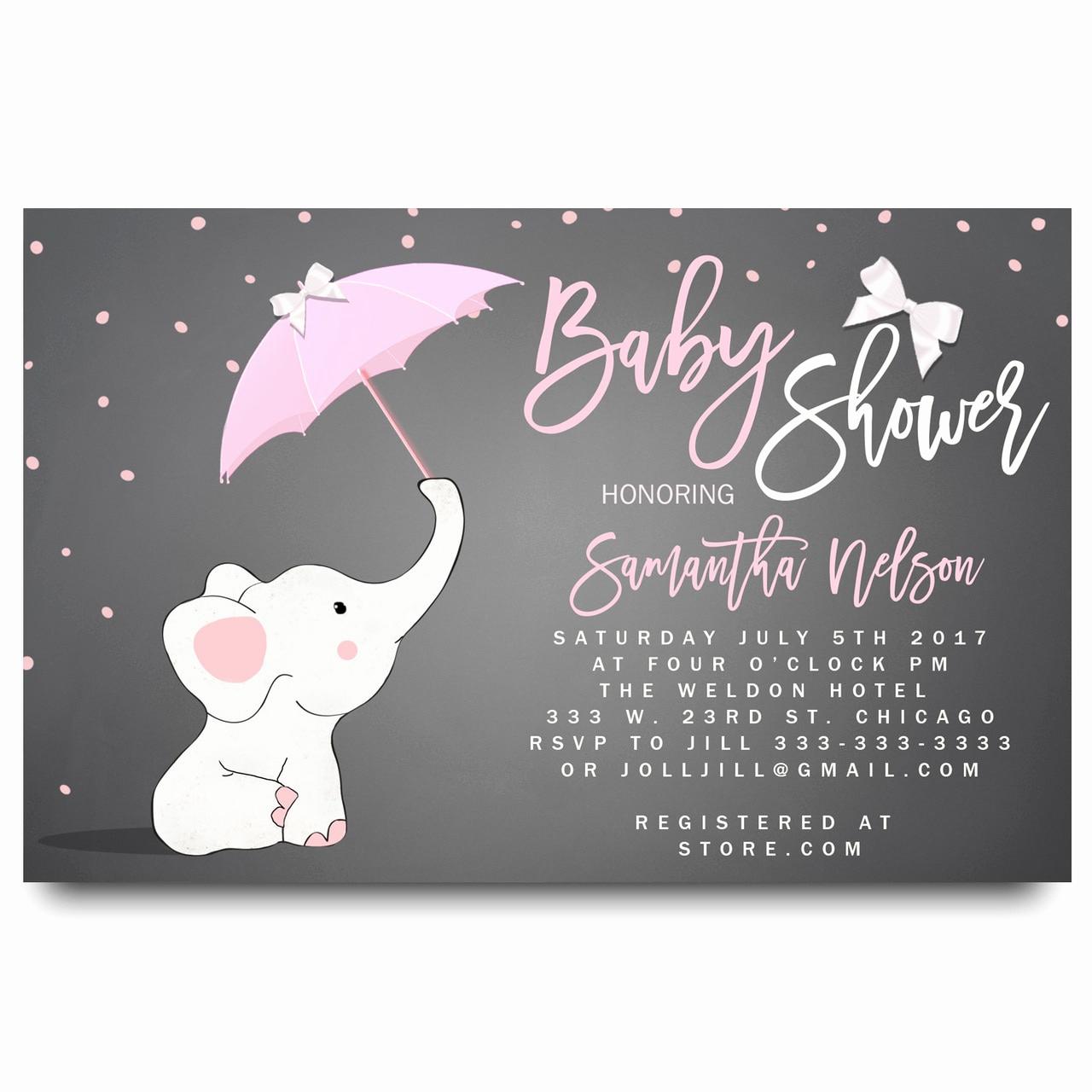 Elephant Invitation Baby Shower Inspirational Little Elephant Baby Shower Invitation