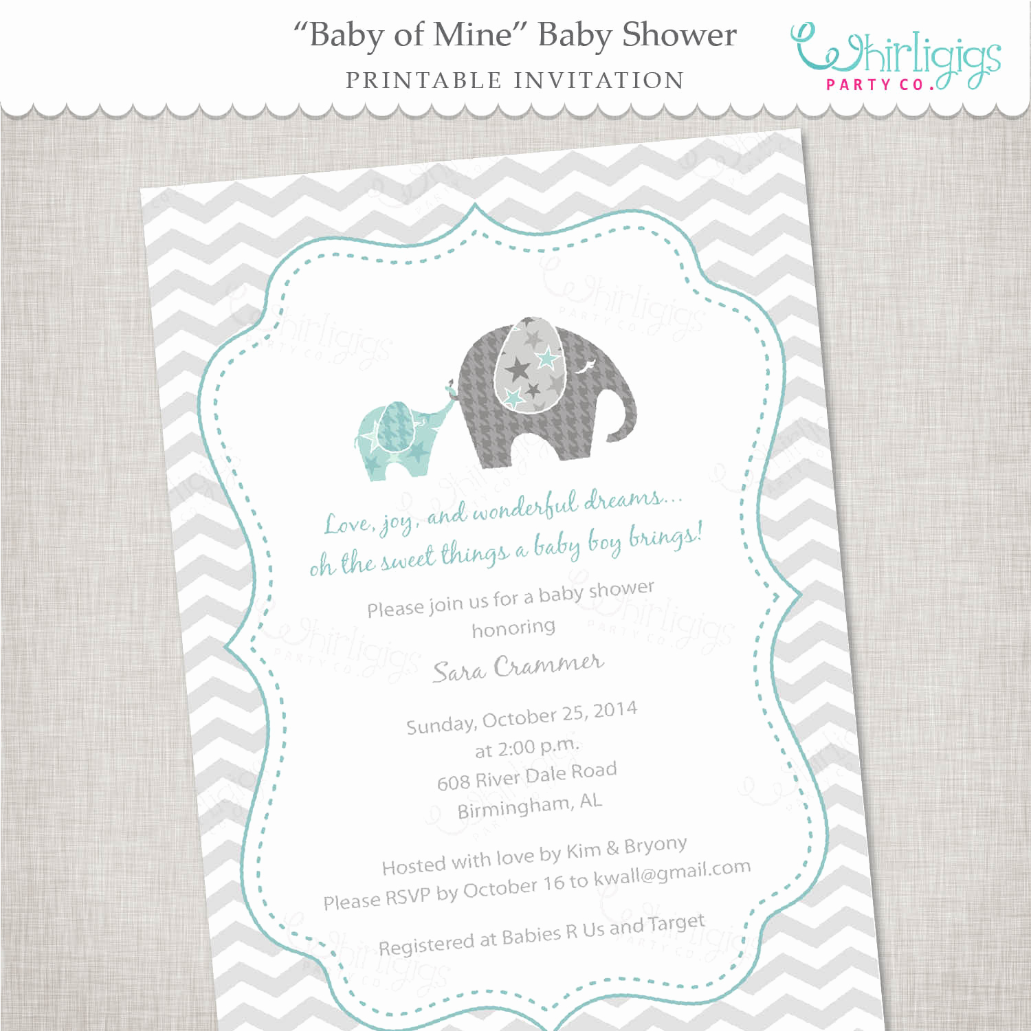 Elephant Invitation Baby Shower New Elephant Baby Shower Invitation Baby Of Mine