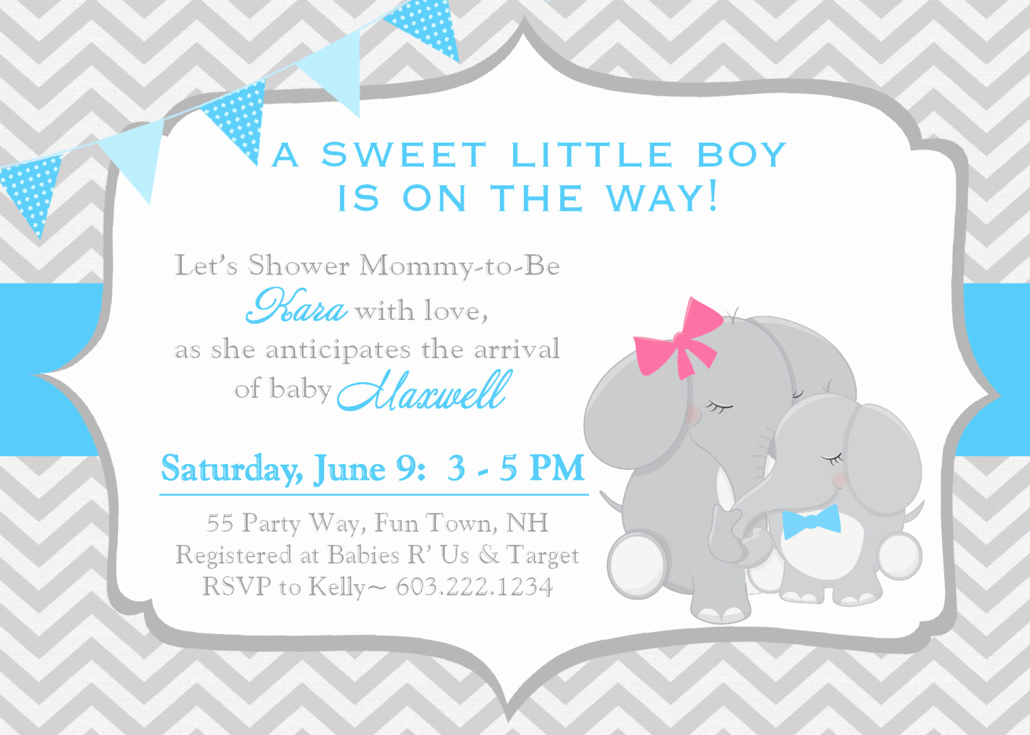 Elephant Invitation Baby Shower New Elephant Baby Shower Invitation Boy Invitation Elephant Baby
