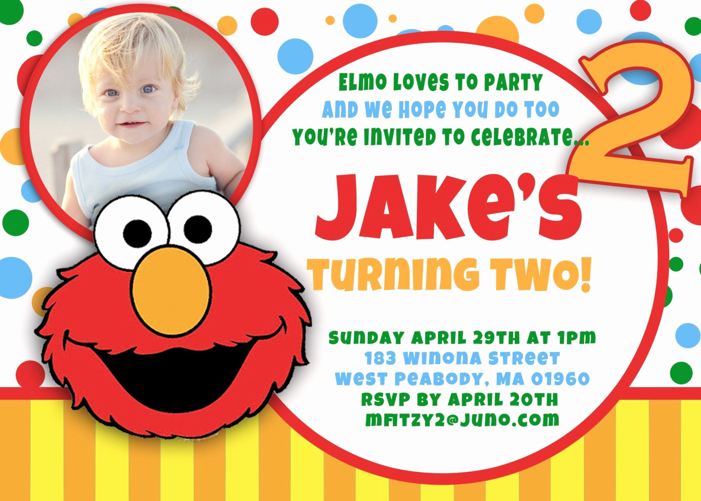 Elmo Birthday Invitation Template Awesome Elmo Birthday Invitation by asapinvites On Etsy