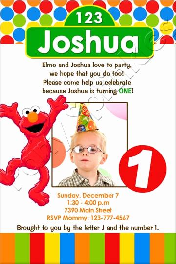 Elmo Birthday Invitation Template Awesome Elmo Party Invitation Template