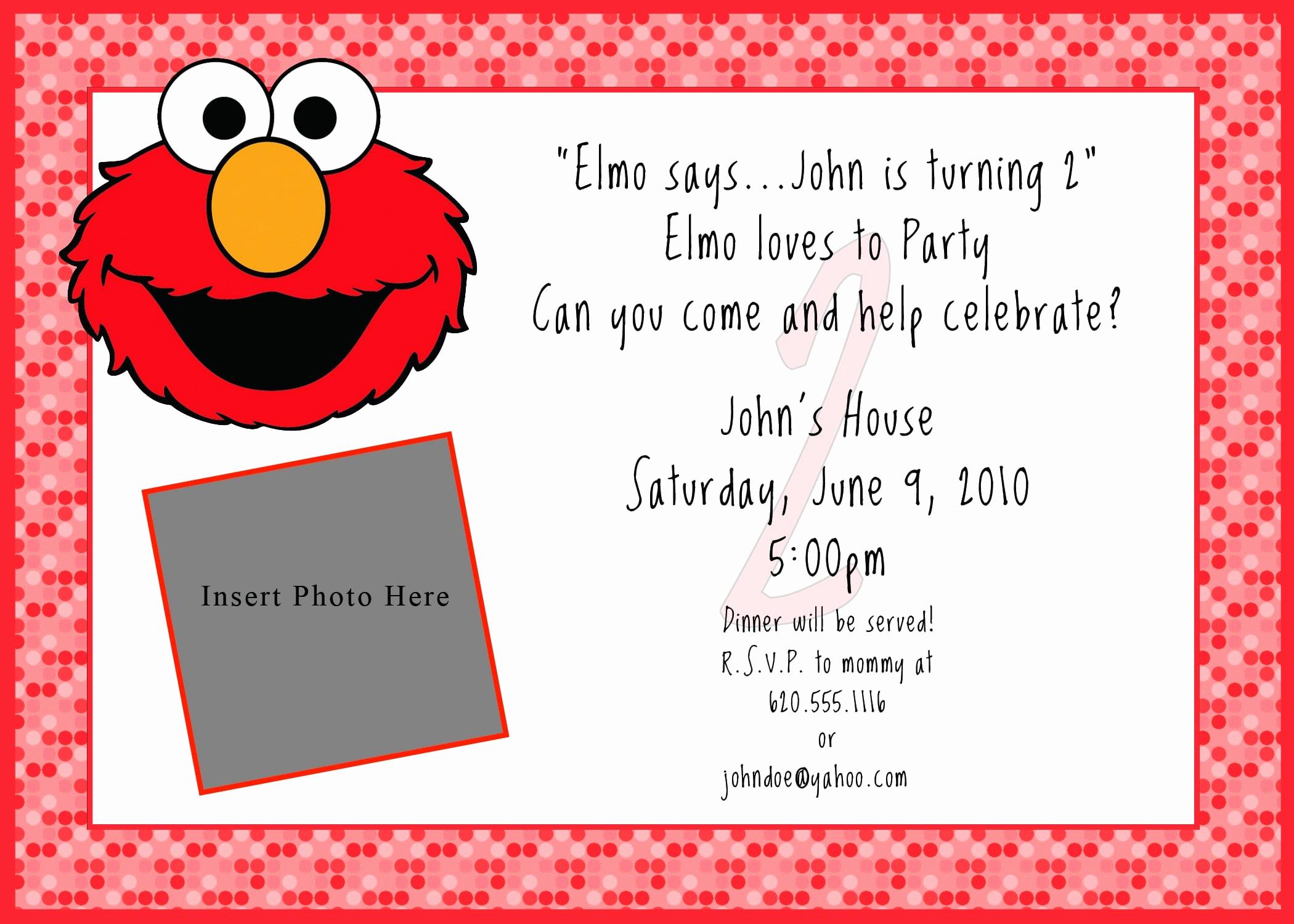 Elmo Birthday Invitation Template Beautiful Printable Free Elmo Invitation