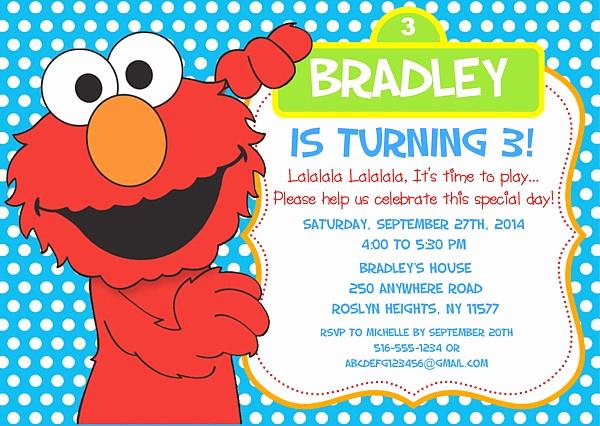 Elmo Birthday Invitation Template Elegant Free Printable Elmo Birthday Invitations