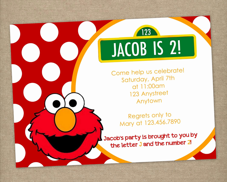 Elmo Birthday Invitation Template Inspirational Elmo Invitation Templates