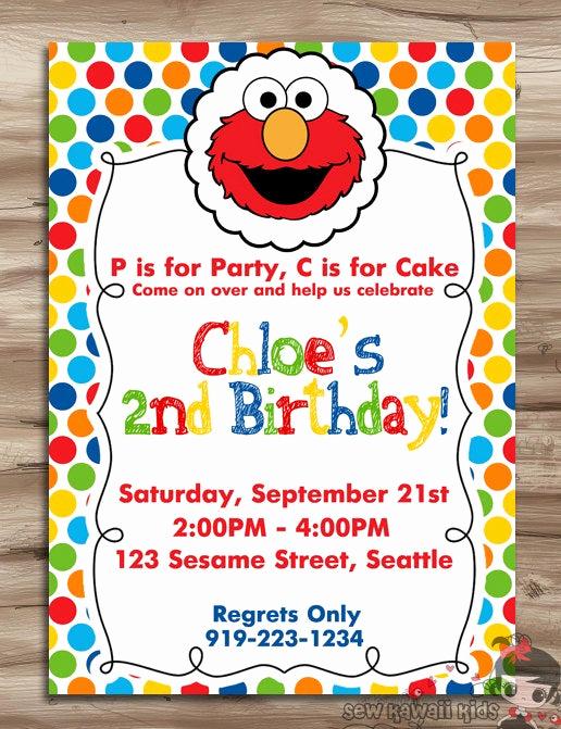 Elmo Birthday Invitation Template Lovely Elmo Birthday Invite Elmo Birthday Invitation Sesame Street