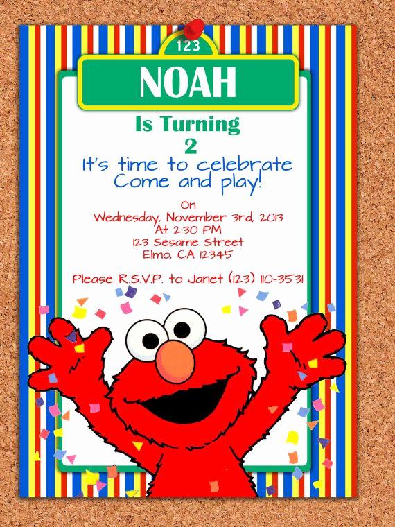 Elmo Birthday Invitation Template Luxury 25 Best Ideas About Elmo Invitations On Pinterest