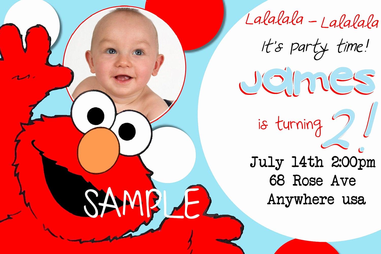 Elmo Birthday Invitation Template Luxury Elmo Birthday Invitations Sesame Street Inspired