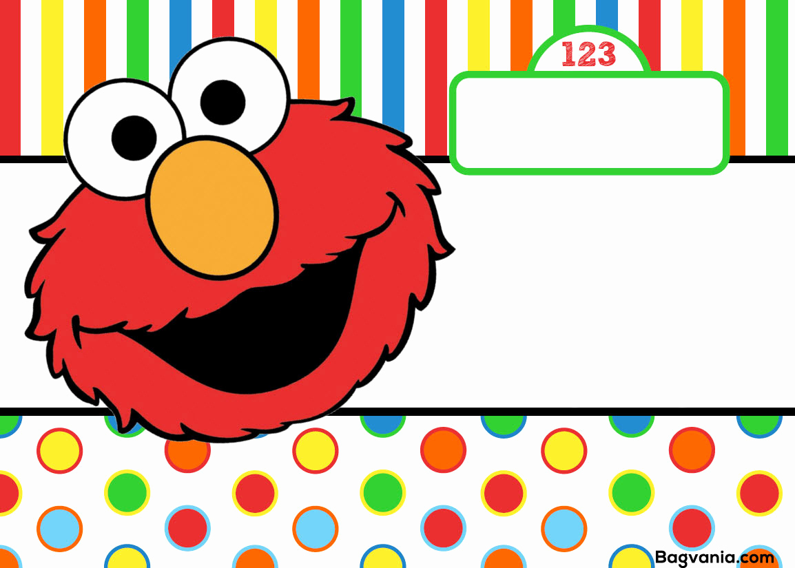 Elmo Invitation Template Free Awesome Free Printable Elmo Birthday Invitations – Free Printable