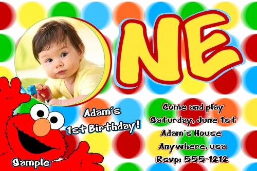 Elmo Invitation Template Free Beautiful Elmo Sesame Street Birthday Party