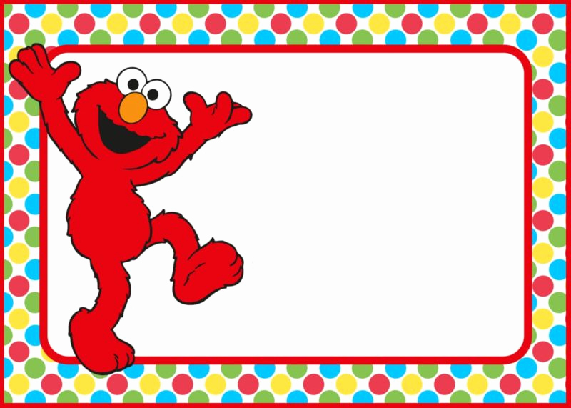 Elmo Invitation Template Free Best Of 12 Printable Elmo Invitations Children S Favorite