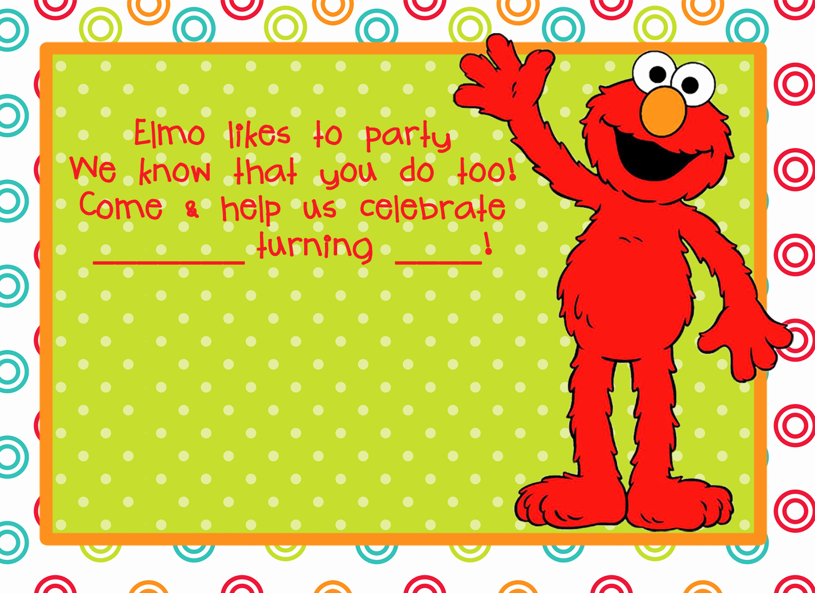 Elmo Invitation Template Free Elegant Elmo Birthday Party On Pinterest