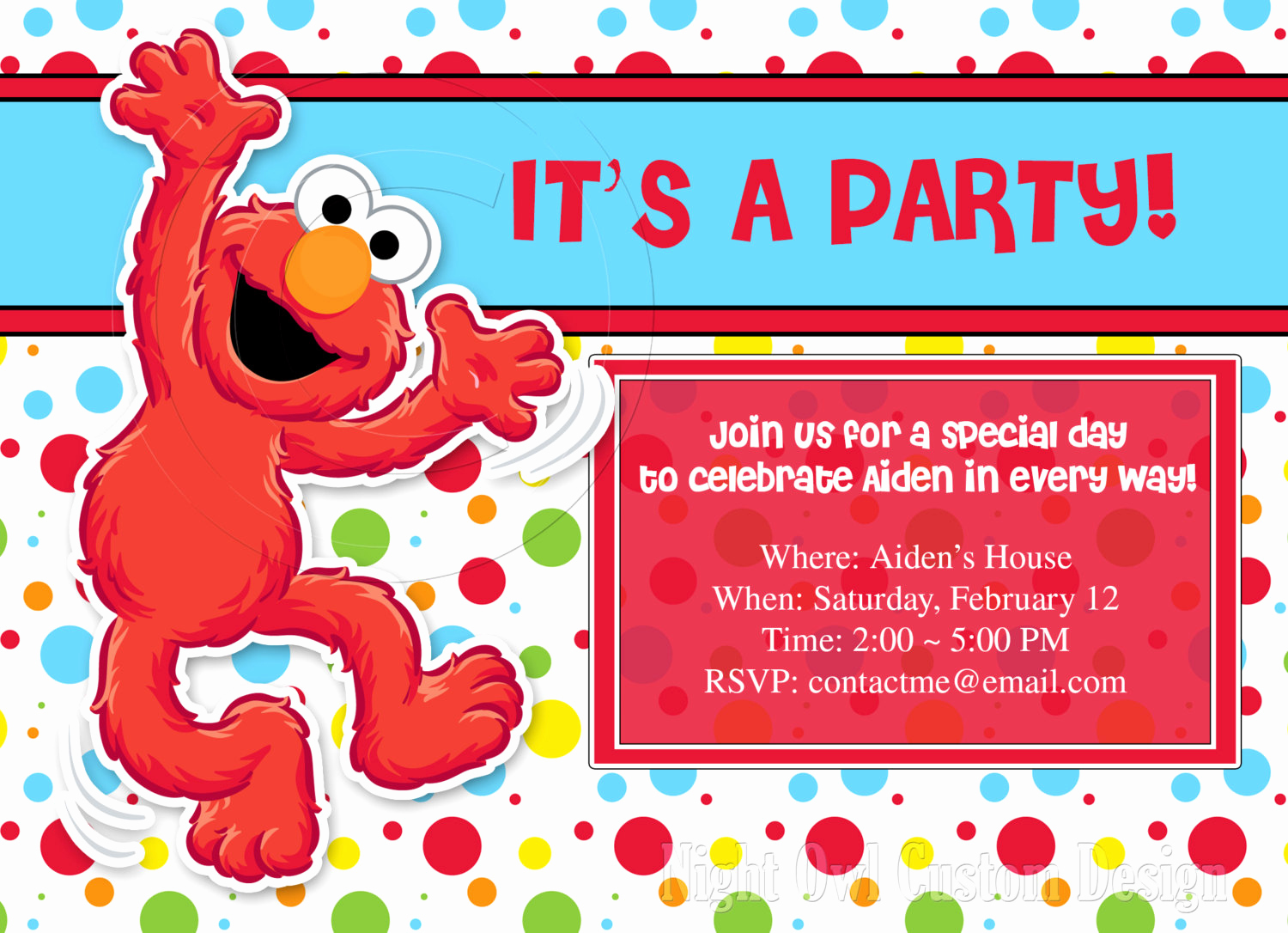 Elmo Invitation Template Free Fresh Elmo Birthday Invitation Templates