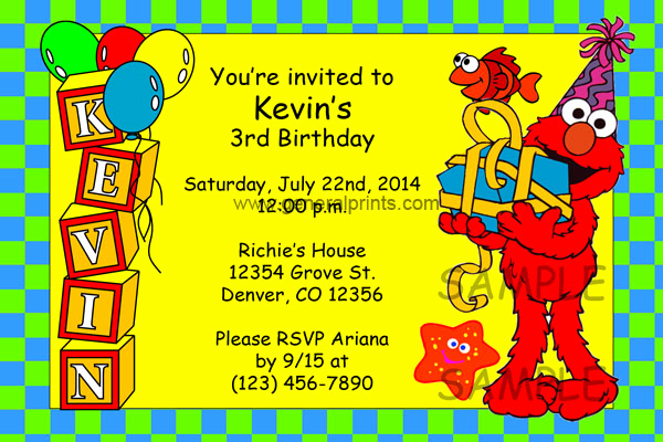 Elmo Invitation Template Free Fresh Elmo Invitations Birthday Party Invites Personalized