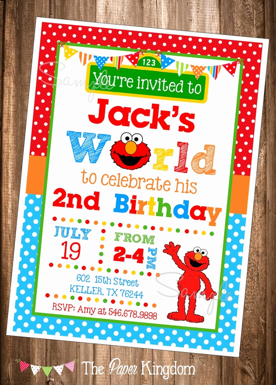 Elmo Invitation Template Free New Elmo Invitations Printable Elmo Invitations Elmo S