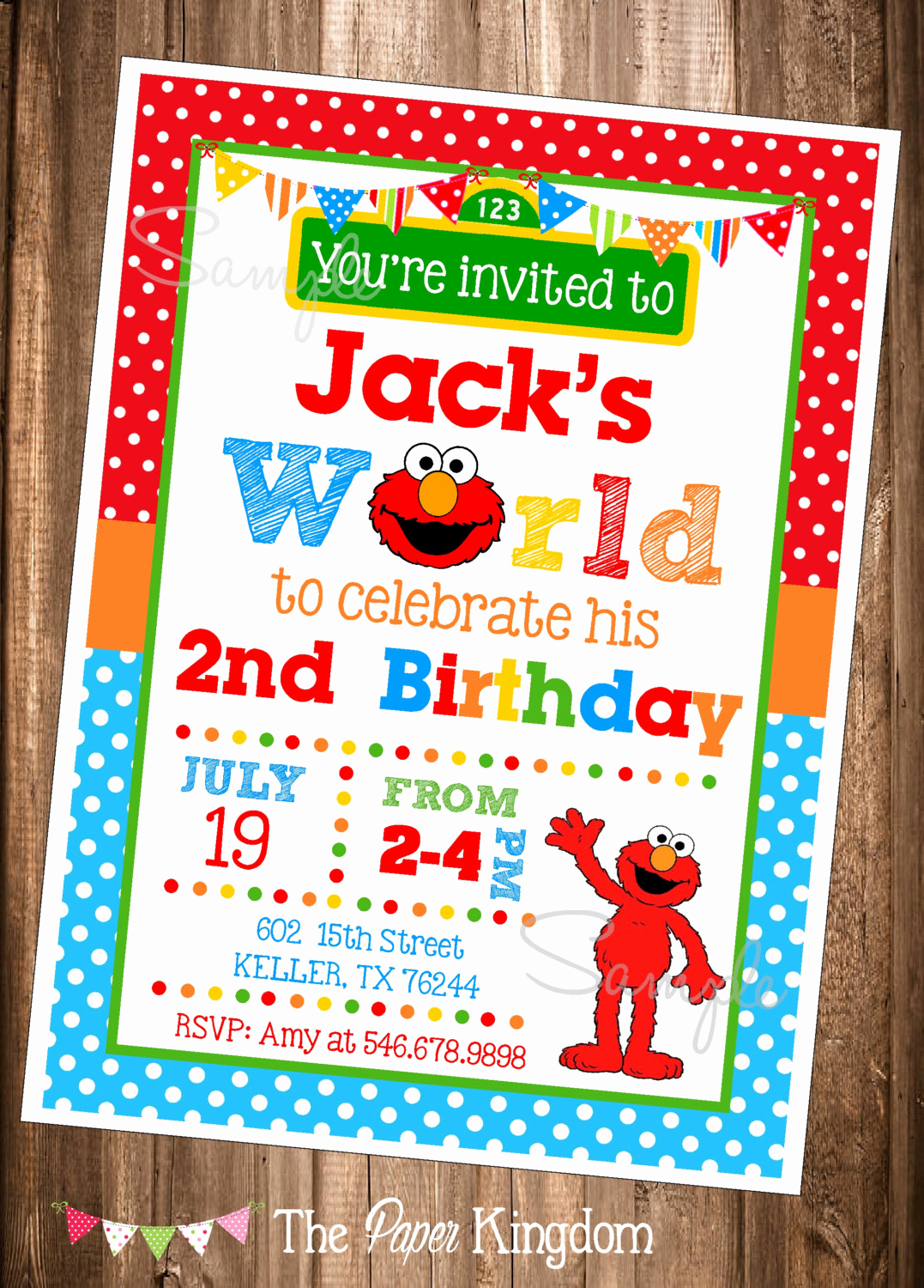 Elmo Invitation Template Free New Elmo Invitations Printable Elmo Invitations Elmo S World