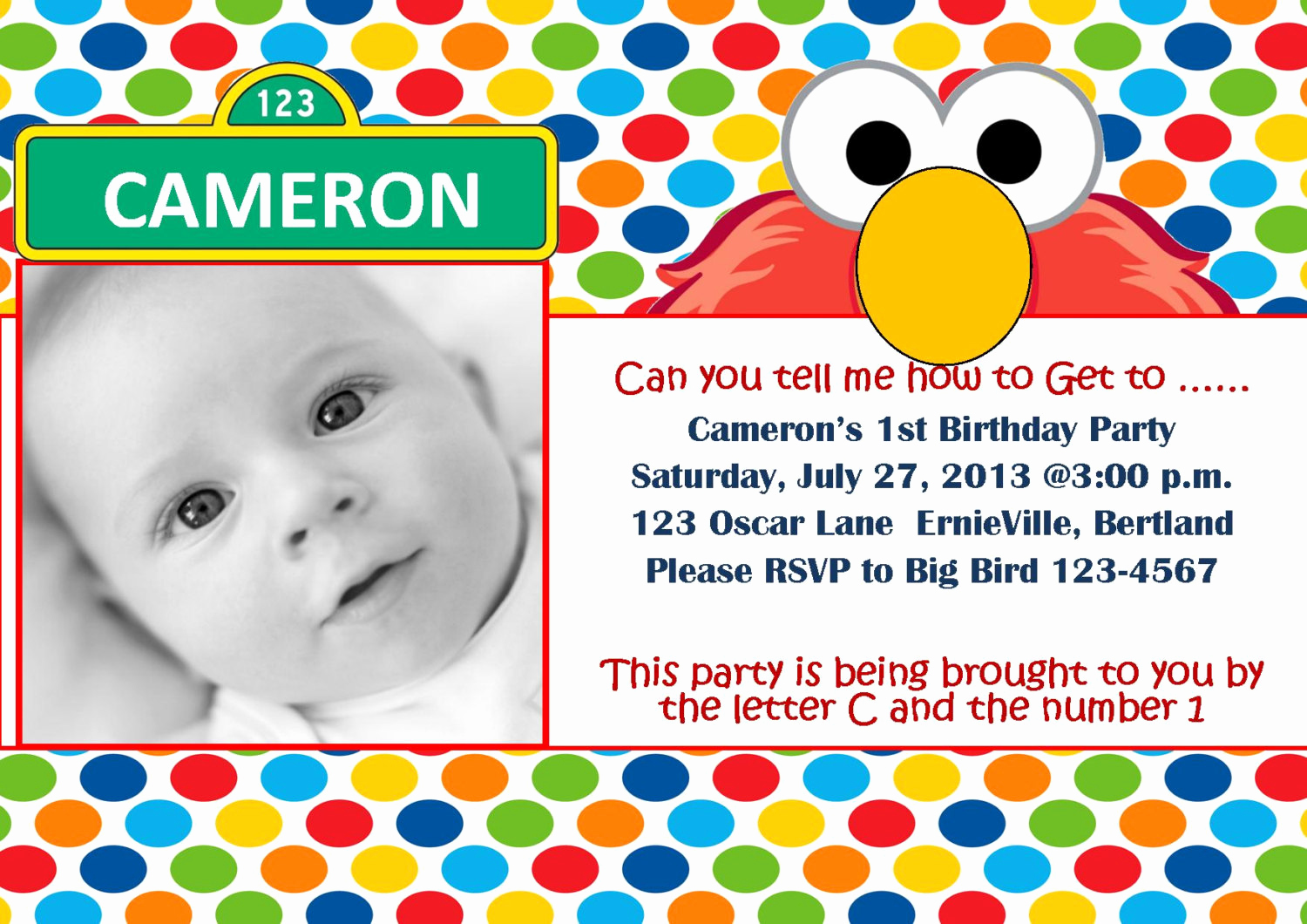 Elmo Invitation Template Free Unique Free Printable Elmo 1st Birthday Invitations Template