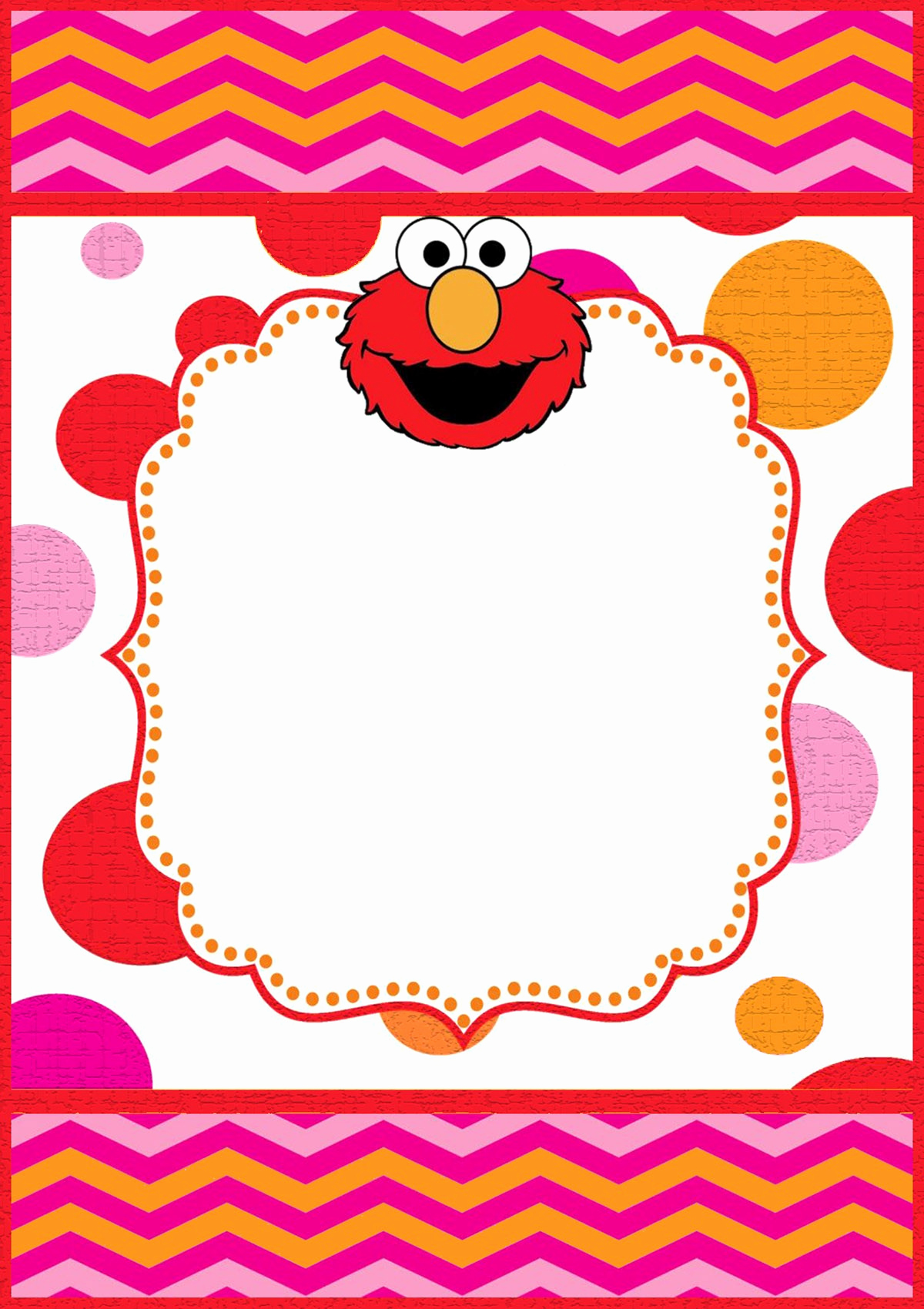 Elmo Invitation Templates Free Awesome Free Printable Elmo Invitation Templates