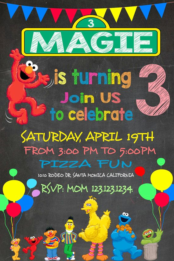 Elmo Invitation Templates Free Awesome Fun Sesame Street Invitation Elmo Invitation by
