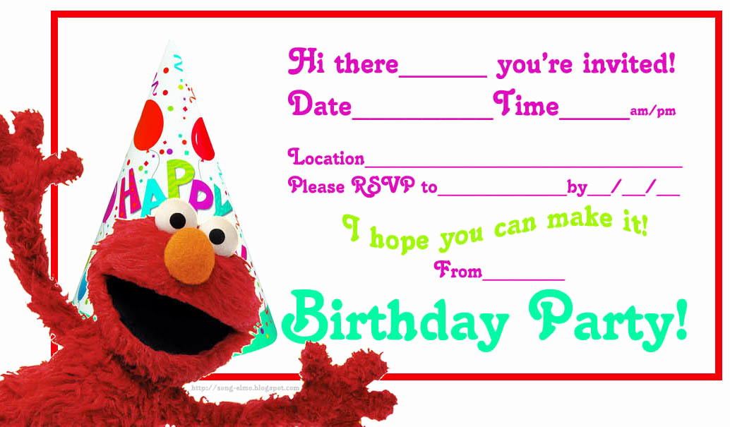 Elmo Invitation Templates Free Elegant Elmo S song