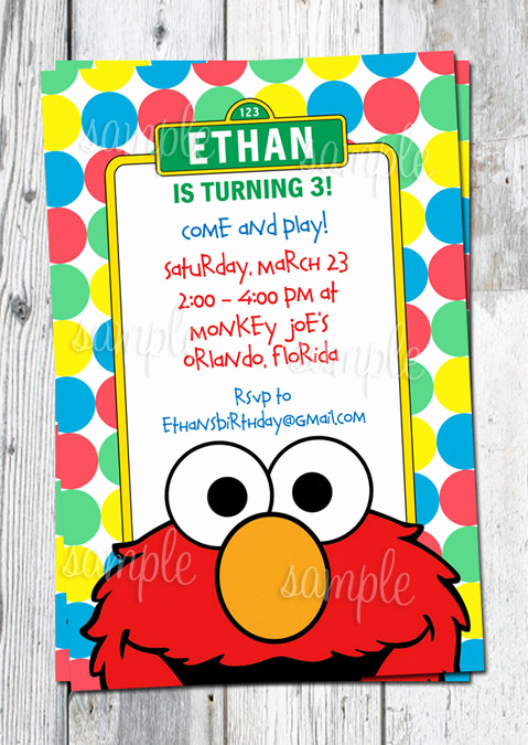 Elmo Invitation Templates Free Inspirational Elmo Birthday Invitation Printable Sesame by Partyprintouts