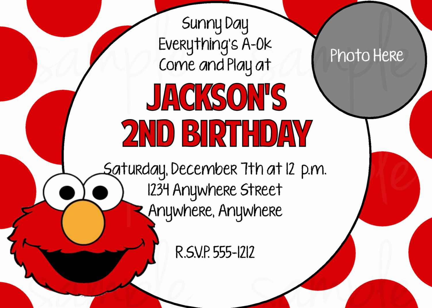 Elmo Invitation Templates Free Inspirational Elmo Birthday Party Invitations Free Printable