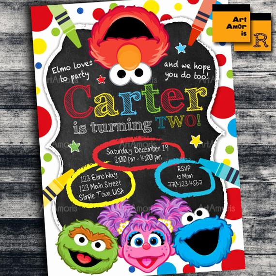 Elmo Invitation Templates Free Inspirational Elmo Invitation Elmo Birthday Invitation Art Party