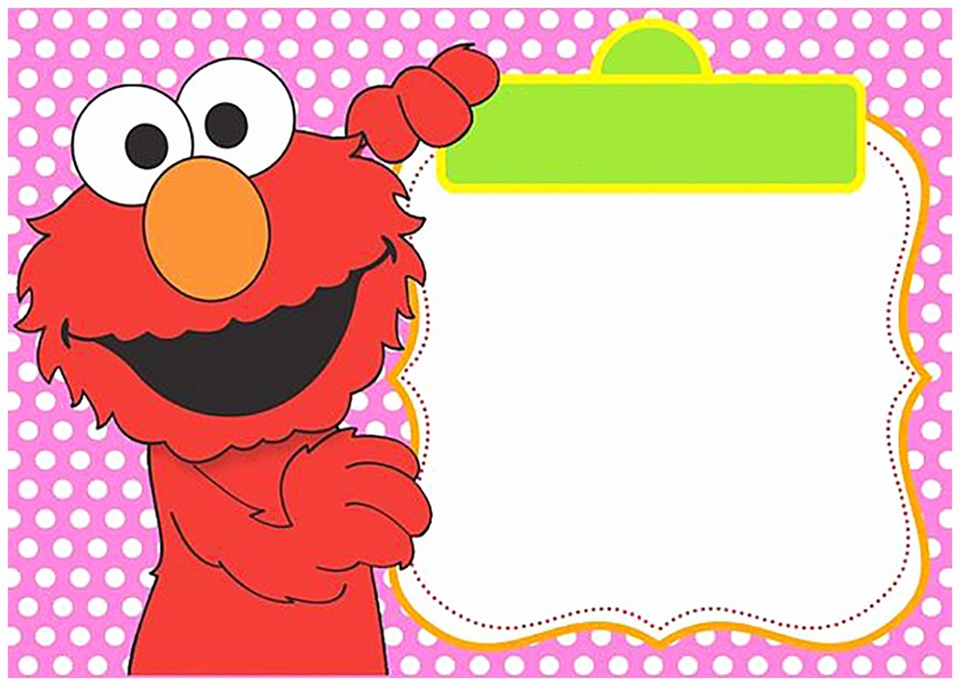 Elmo Invitation Templates Free Lovely Free Printable Elmo Invitation Templates