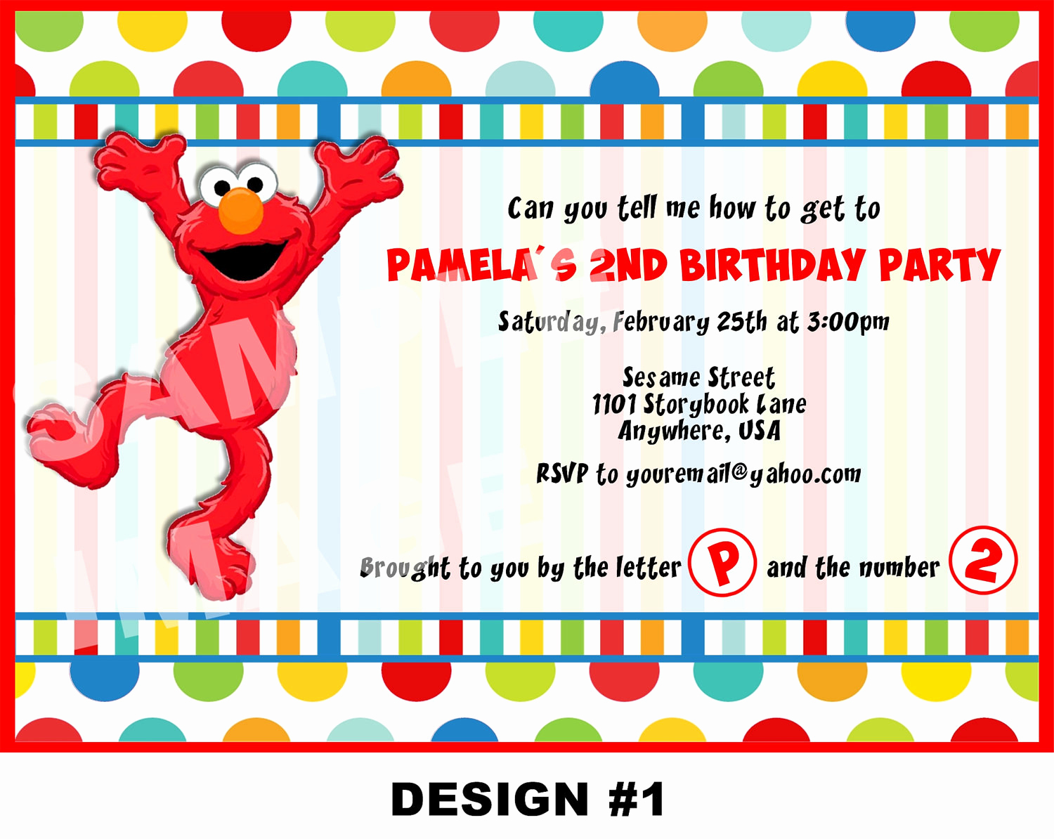 Elmo Invitation Templates Free Lovely Sesame Street Invitation Elmo Invitation Elmo Birthday