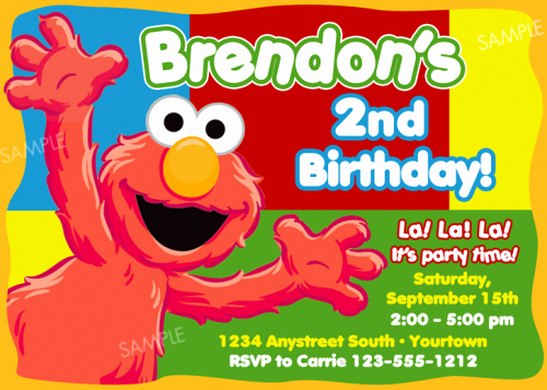Elmo Invitation Templates Free Luxury Free 2nd Birthday Invitations – Bagvania Free Printable
