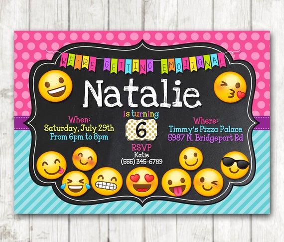 Emoji Birthday Invitation Template Awesome Printable Emoji Birthday Party Invitation Emoji Invitations