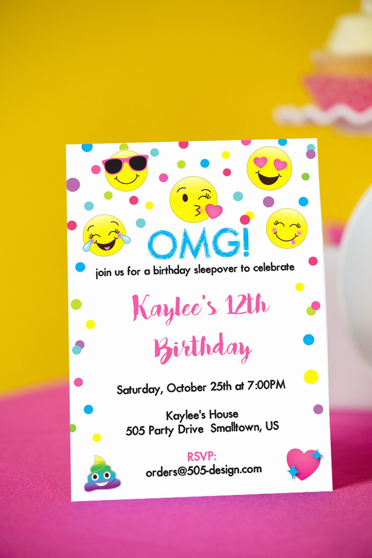 Emoji Birthday Invitation Template Beautiful Emoji Invitation Printable Emoji Invitation Printable