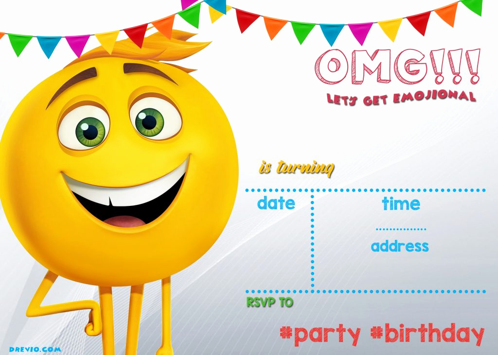Emoji Birthday Invitation Template Lovely Free Printable Emoji Invitation Template Free Invitation