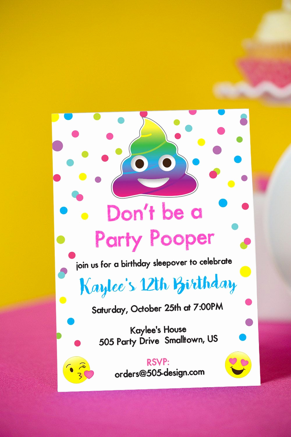 Emoji Invitation Template Free Beautiful Free Printable Emoji Party Invitations Emoji Invitation