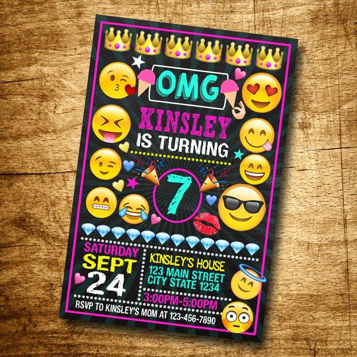 Emoji Invitation Template Free Elegant Emoji Invitación Invitaciones De Cumpleaños De Emoji Emoji