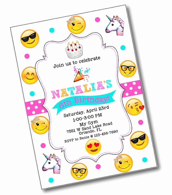 Emoji Invitation Template Free Elegant Glitter Bow Emoji Birthday Party Invitation Emoji