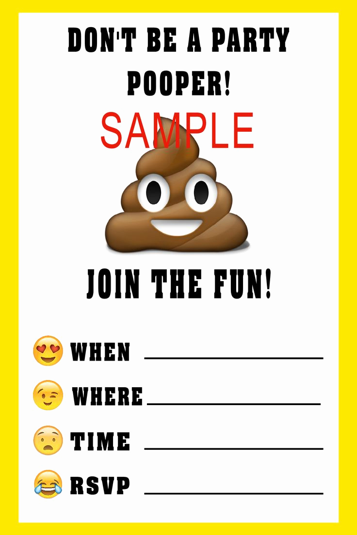 Emoji Invitation Template Free Fresh Emoji Birthday Invitation Please Click On Image Twice to