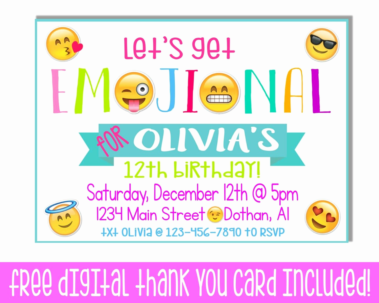 Emoji Invitation Template Free Lovely Emoji Invitation Mikies B Day Emoji