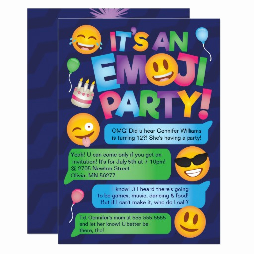 Emoji Invitation Template Free Lovely Fun Emoji Party Invitation