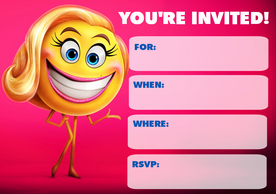 Emoji Invitation Template Free Luxury 9 Cute Emoji Birthday Invitations
