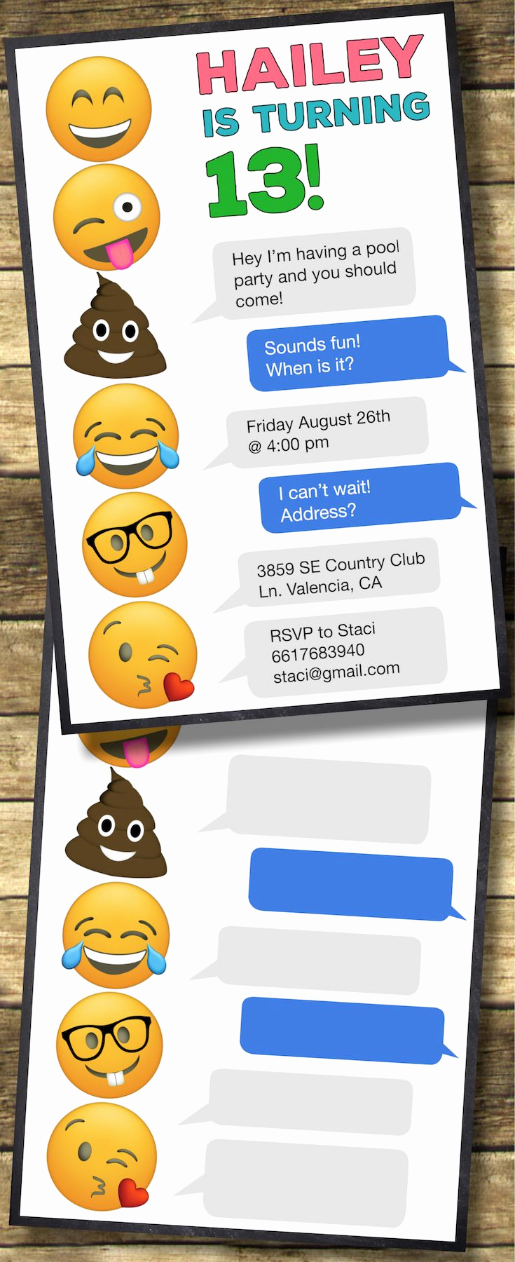 Emoji Invitation Template Free New Emoji Birthday Invitations Free Printable Template